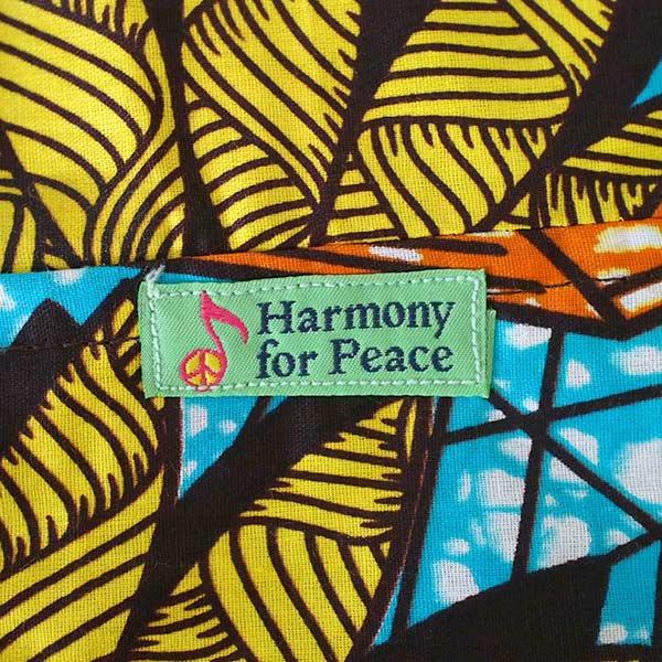 【HARMONY FOR PEACE プロジェクト】マリ 足踏みミシンで仕立てた パーニュ 巾着 エコバッグ(団扇)【画像2】