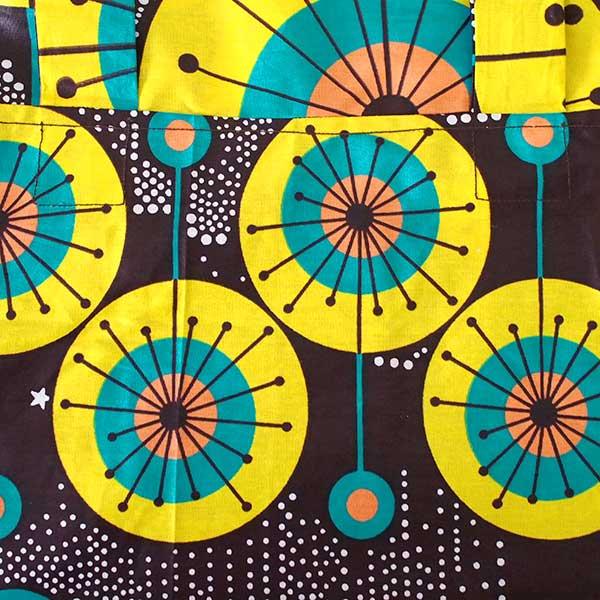 【HARMONY FOR PEACE プロジェクト】マリ 足踏みミシンで仕立てた パーニュ 巾着 エコバッグ(ホタル)【画像2】