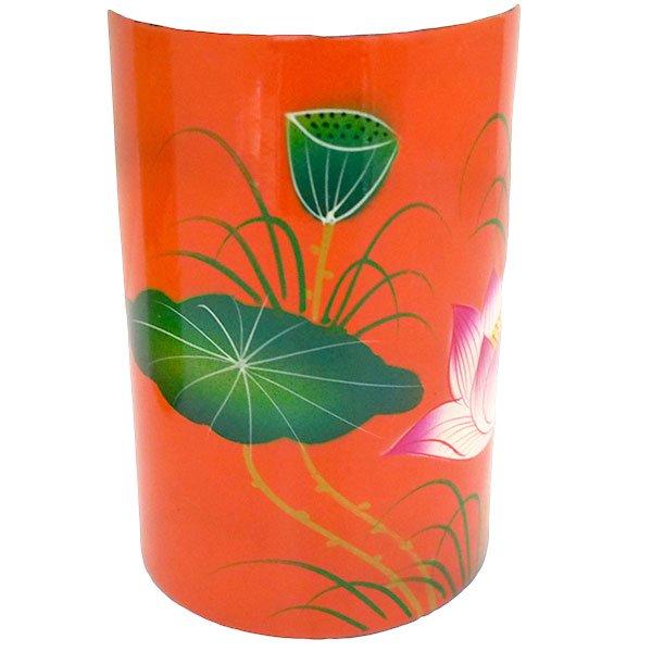 ベトナム 漆 蓮の花 ペン立て A(4色)【画像3】