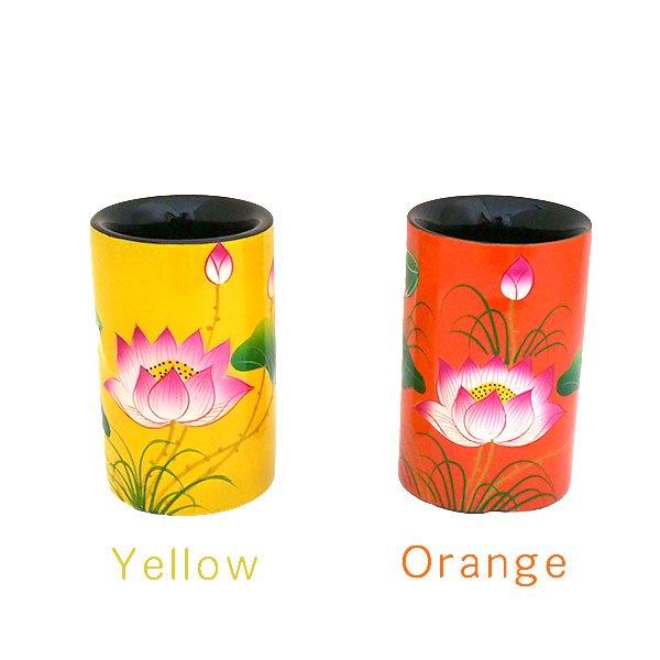 ベトナム 漆 蓮の花 ペン立て A(4色)【画像5】