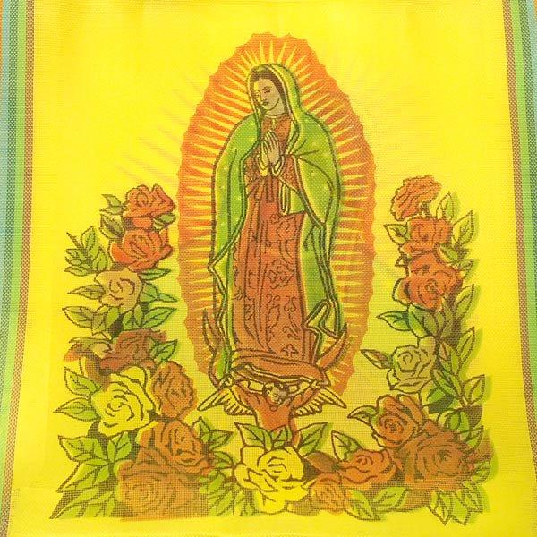 【メキシコ直輸入】メキシコ マリア(グアダルーペ) メルカド バッグ (イエロー )【画像2】