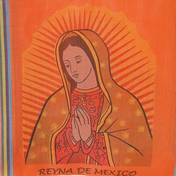 【メキシコ直輸入】メキシコ マリア(グアダルーペ) メルカド バッグ (オレンジ)【画像4】