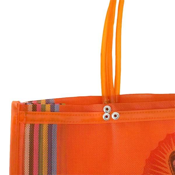 【メキシコ直輸入】メキシコ マリア(グアダルーペ) メルカド バッグ (オレンジ)【画像5】