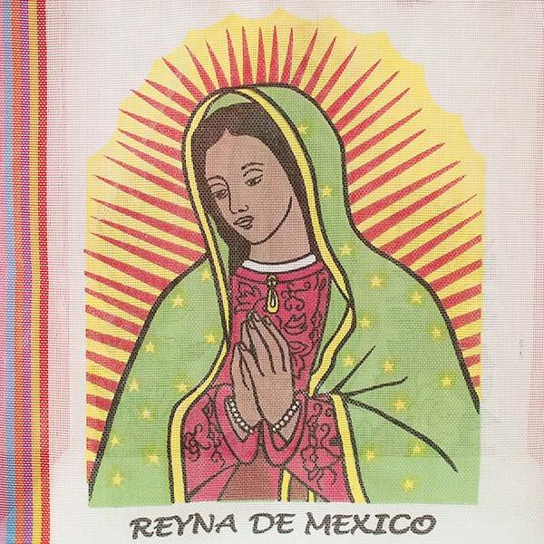 【メキシコ直輸入】メキシコ マリア(グアダルーペ) メルカド バッグ (ホワイト×レッド)【画像4】