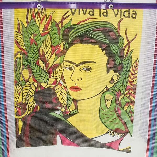 【メキシコ直輸入】メキシコ フリーダ・カーロ メルカド バッグ (ホワイト×パープル)【画像2】