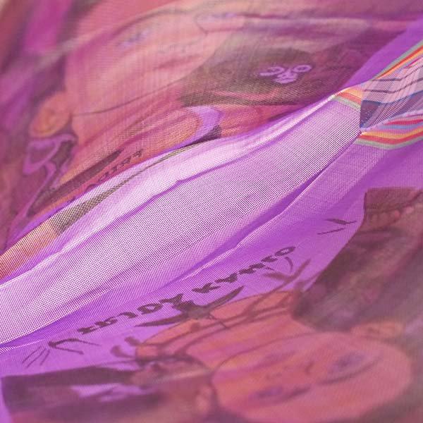 【メキシコ直輸入】メキシコ フリーダ・カーロ メルカド バッグ (パープル)【画像6】