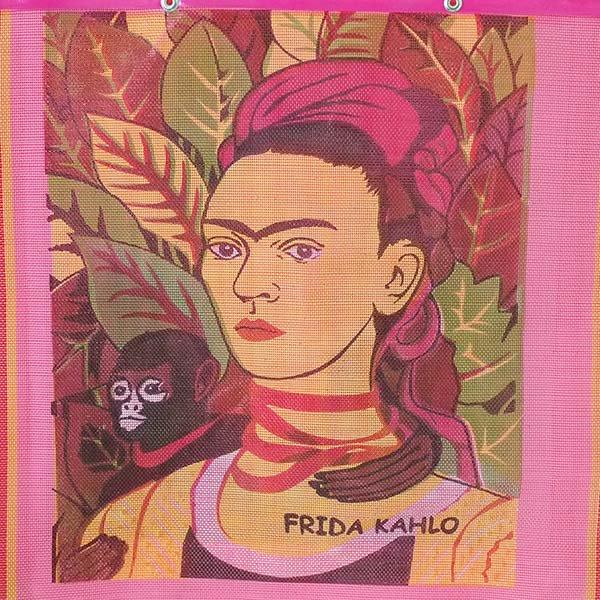 【メキシコ直輸入】メキシコ フリーダ・カーロ メルカド バッグ (ピンク A)【画像4】