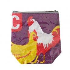 トリ (鳥) 雑貨  ベトナム 飼料袋 リメイク ポーチ(NEW サイズ ニワトリ)