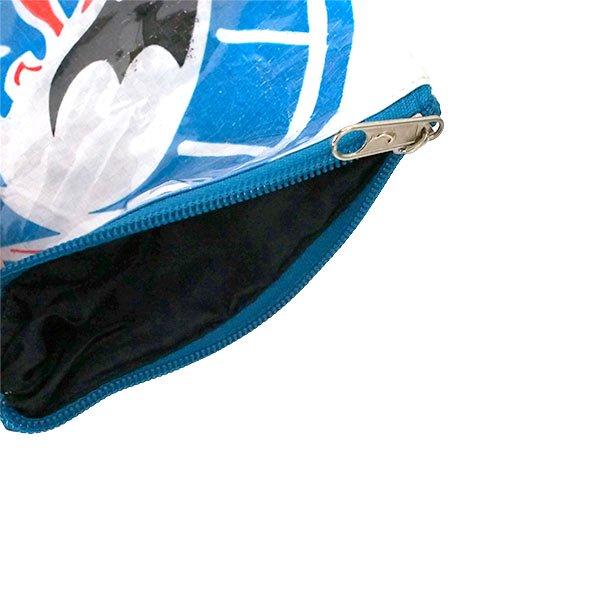 ベトナム 飼料袋 リメイク ポーチ(マチなし コウノトリ ホワイト)【画像4】