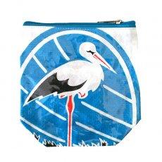 ベトナム 飼料袋 リメイク ポーチ(NEW サイズ コウノトリ)