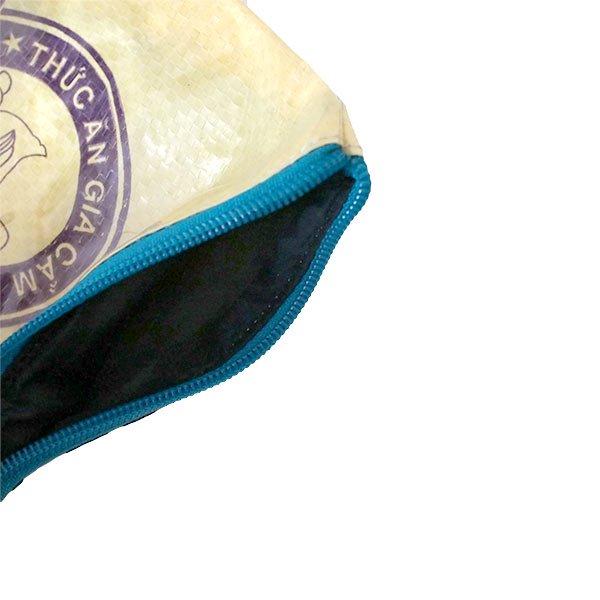 ベトナム 飼料袋 リメイク ポーチ(NEW サイズ アヒル イエロー)【画像4】