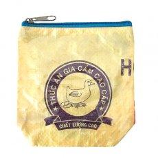 ベトナム 飼料袋 リメイク ポーチ(NEW サイズ アヒル イエロー)