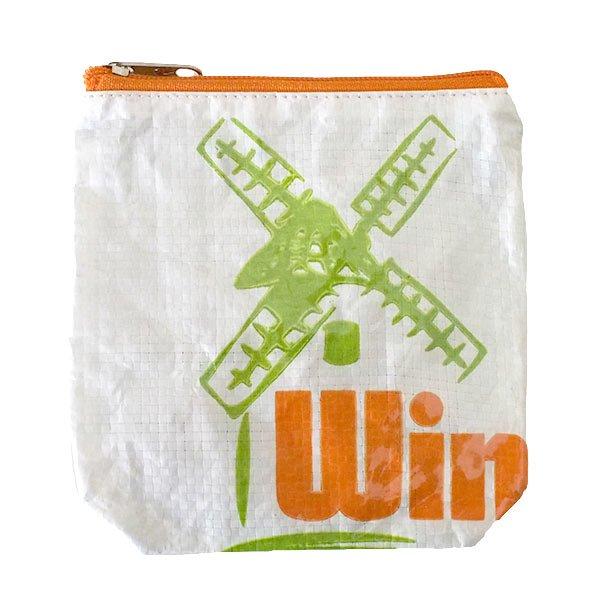 ベトナム 飼料袋 リメイク ポーチ(NEW サイズ ブタ キミドリ)【画像2】