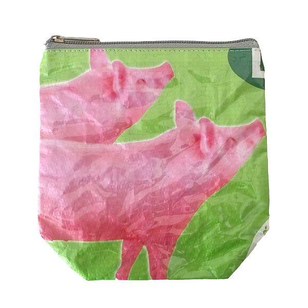 ベトナム 飼料袋 リメイク ポーチ(NEW サイズ ブタ ピンク)