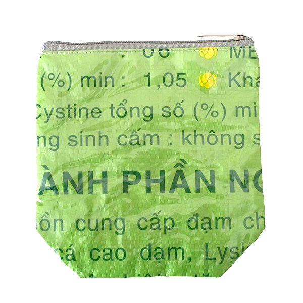 ベトナム 飼料袋 リメイク ポーチ(NEW サイズ ブタ ピンク)【画像2】