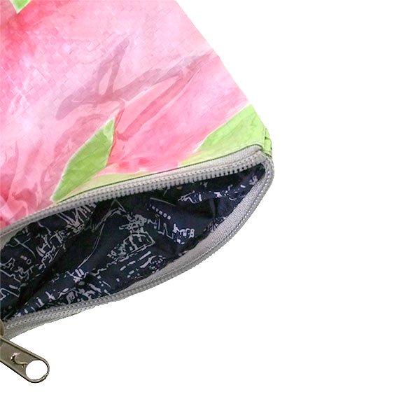 ベトナム 飼料袋 リメイク ポーチ(NEW サイズ ブタ ピンク)【画像4】