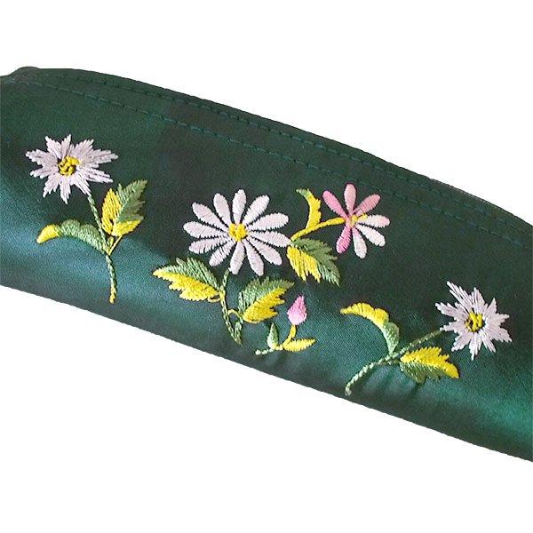 ベトナム 花刺繍 ポーチ / ペンケース / メガネケース (3色)【画像2】