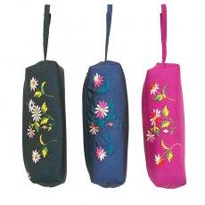 ベトナム 花刺繍 ポーチ / ペンケース / メガネケース (3色)