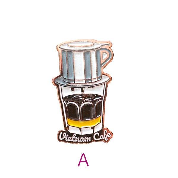 ベトナム ピンバッジ (ベトナムコーヒー・サイゴンスペシャルビール)【画像2】