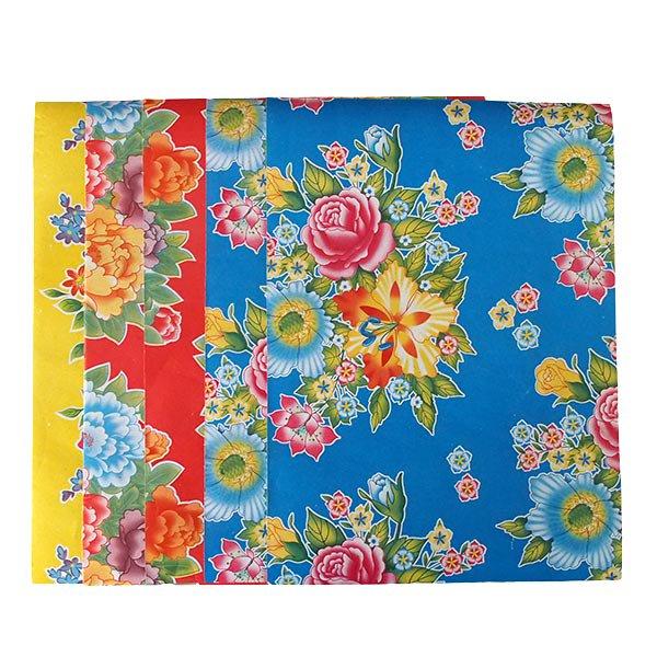 ベトナム 包装紙 レトロ花柄 A4サイズ 5枚セット