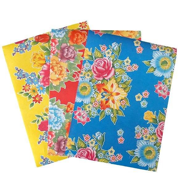 ベトナム 包装紙 レトロ花柄 A4サイズ 5枚セット【画像2】