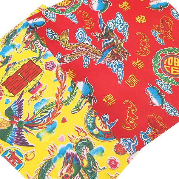 ベトナム 包装紙 縁起の良い柄  5種セット【画像3】