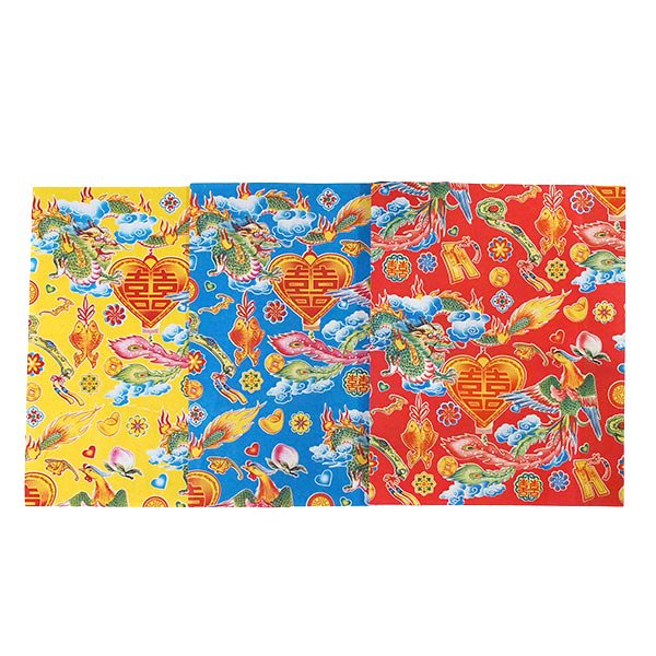 ベトナム 包装紙 縁起の良い柄  5種セット【画像4】