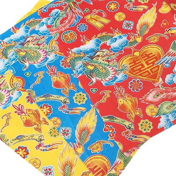 ベトナム 包装紙 縁起の良い柄  5種セット【画像5】