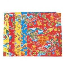 ベトナム 包装紙 縁起の良い柄  5種セット