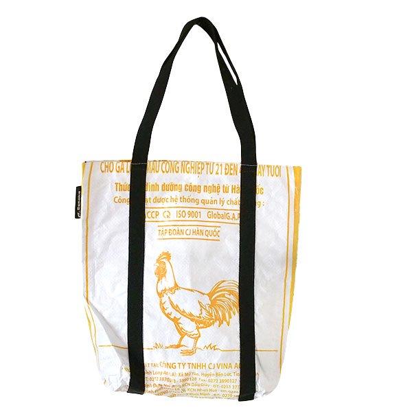 ベトナム 飼料袋 リメイク ショルダーバッグ(ビニールコーティングなし マチ付き ニワトリ A)