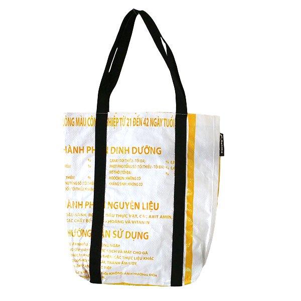 ベトナム 飼料袋 リメイク ショルダーバッグ(ビニールコーティングなし マチ付き ニワトリ A)【画像2】