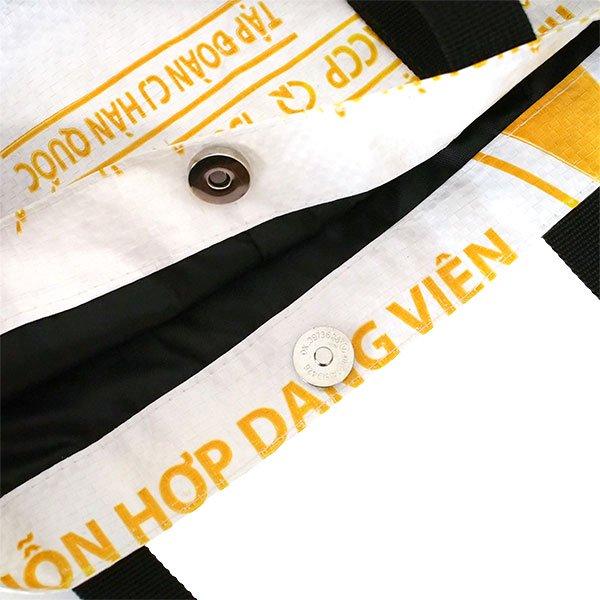 ベトナム 飼料袋 リメイク ショルダーバッグ(ビニールコーティングなし マチ付き ニワトリ A)【画像5】