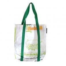 ベトナム 飼料袋 リメイク ショルダーバッグ(ビニールコーティングなし マチ付き ブタ A)