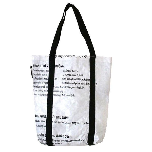ベトナム 飼料袋 リメイク ショルダーバッグ(ビニールコーティングなし マチ付き ニワトリ B)【画像2】