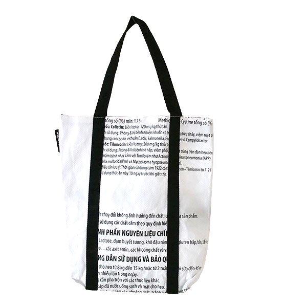 ベトナム 飼料袋 リメイク ショルダーバッグ(ビニールコーティングなし マチ付き ブタ B)【画像2】