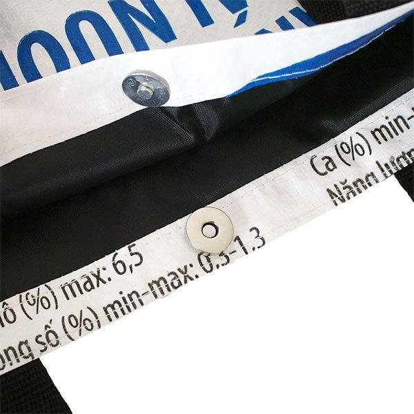ベトナム 飼料袋 リメイク ショルダーバッグ(ビニールコーティングなし マチ付き ブタ B)【画像5】