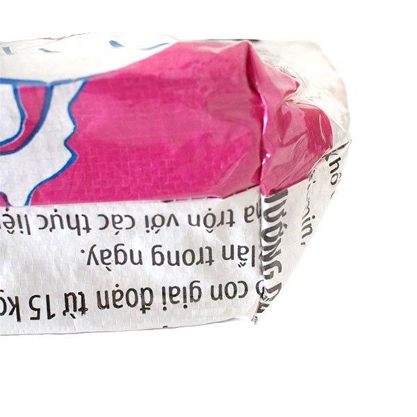 ベトナム 飼料袋 リメイク バッグ(肩掛けOK マチ付き アヒル ピンク )【画像4】