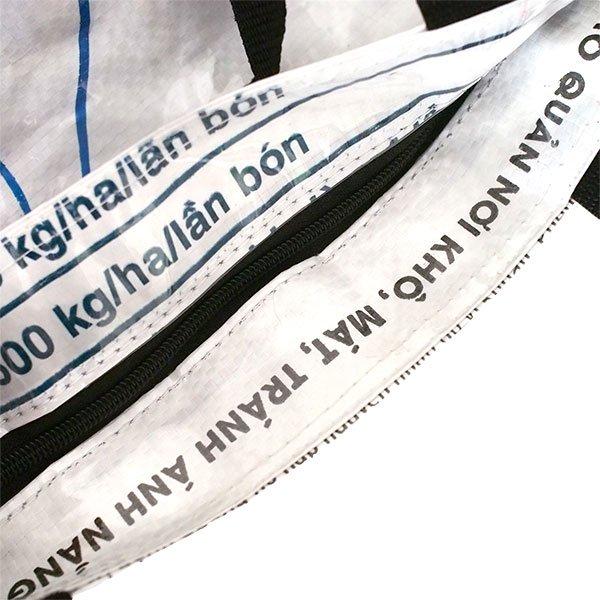 ベトナム 飼料袋 リメイク バッグ(肩掛けOK マチ付き アヒル ピンク )【画像5】