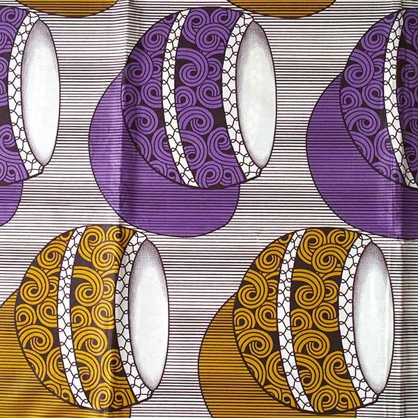 アフリカン プリント 布  115×90 カットオフ(太鼓)