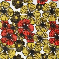 アフリカン プリント布 パーニュ 115×90 カットオフ(花)
