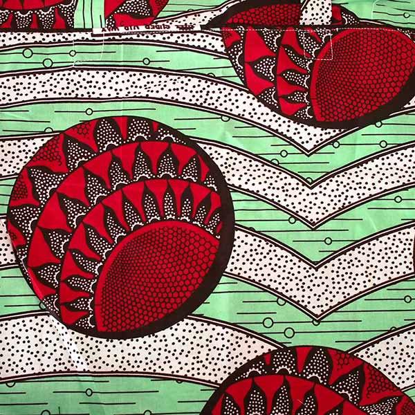 【HARMONY FOR PEACE】マリ 足踏みミシンで仕立てた パーニュ 巾着 エコバッグ(丸模様 レッド 大)【画像2】