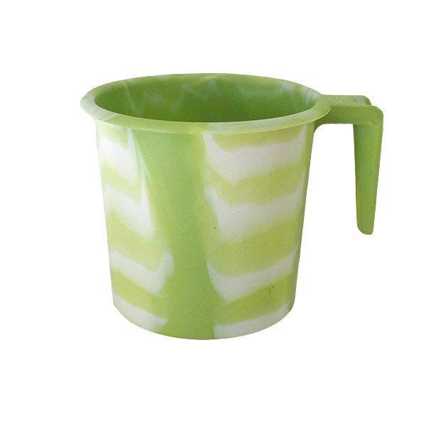 セネガル プラスチックコップ(1リットル キミドリ×ホワイト)