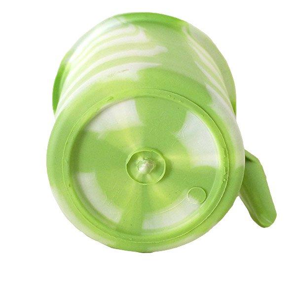 セネガル プラスチックコップ(1リットル キミドリ×ホワイト)【画像2】