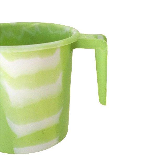セネガル プラスチックコップ(1リットル キミドリ×ホワイト)【画像3】