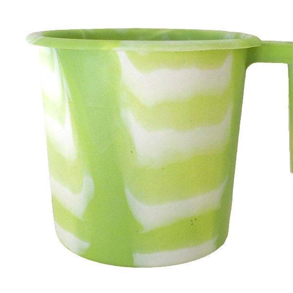 セネガル プラスチックコップ(1リットル キミドリ×ホワイト)【画像4】
