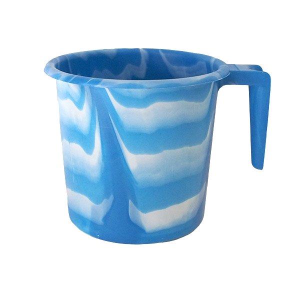 セネガル プラスチックコップ(1リットル ブルー×ホワイト)