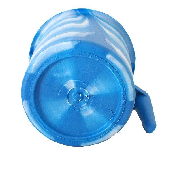 セネガル プラスチックコップ(1リットル ブルー×ホワイト)【画像2】