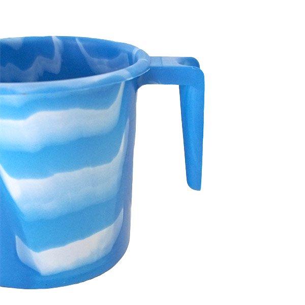 セネガル プラスチックコップ(1リットル ブルー×ホワイト)【画像3】