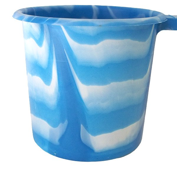 セネガル プラスチックコップ(1リットル ブルー×ホワイト)【画像4】