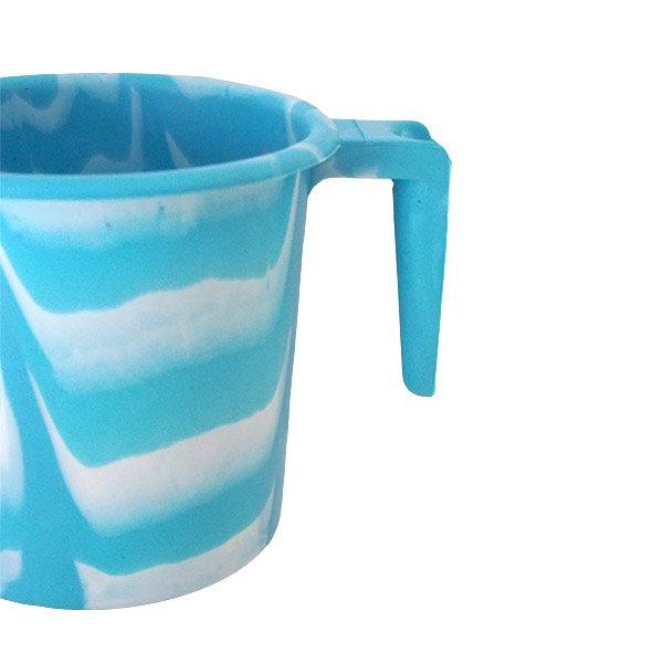 セネガル プラスチックコップ(1リットル ミズイロ×ホワイト)【画像3】